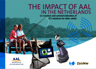 Image of the cover of the brochure 'The impact of AAL in The Netherlands'