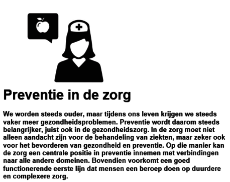 Factsheet Preventie in de zorg